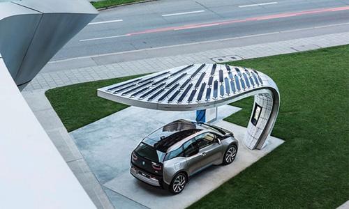 stylish solar charging station