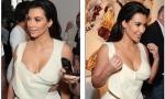 Kim Kardashian flashes plunging top