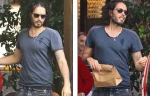 Russell Brand joins his family