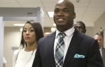 Smiling Adrian Peterson