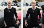 Justin Bieber new look and dyed hair