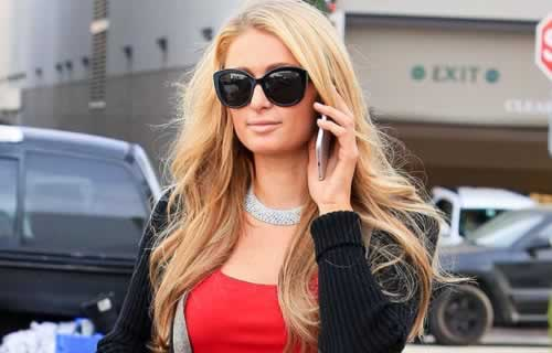Paris Hilton at Christmas Eve