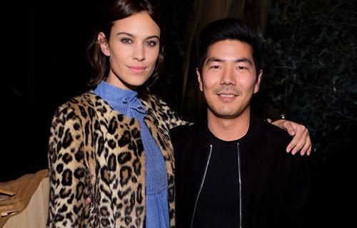 Alexa Chung with Samuel Ku
