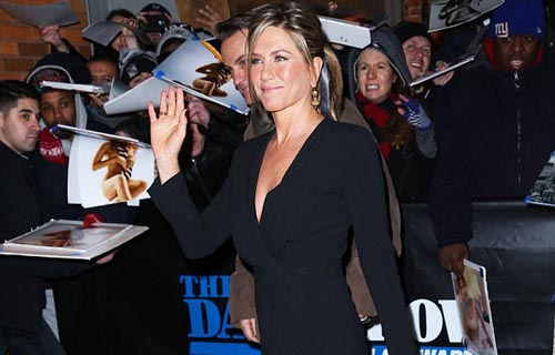 Jennifer Aniston at The Daily Show With Jon Stewart in New York City