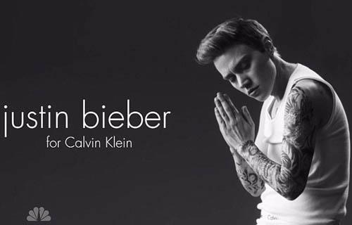 Justin Bieber in Calvin Klein advert