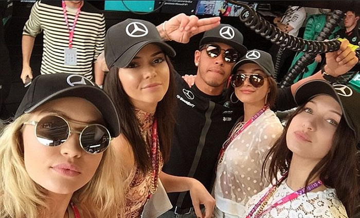 Kendall to date Lewis Hamilton'