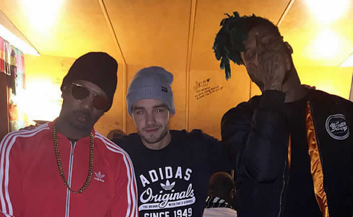 One Direction's Liam Payne Hits Studio With Juicy J, TM 88