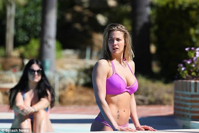 Gemma Atkinson Pink Bikini
