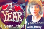 Taylor Swift Shares Pic Anniversary Gift