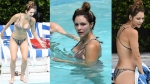 Katharine McPhee Showcases Her Bikini Body Poolside in Miami Beach