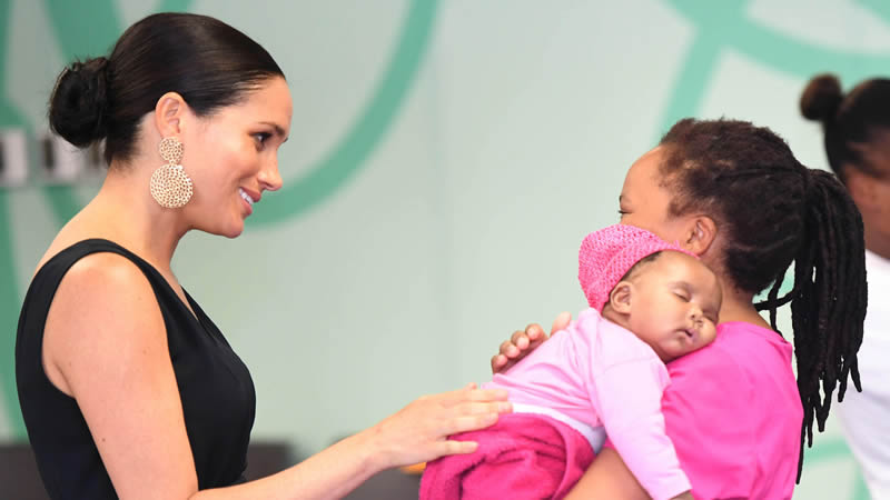 Meghan supports mothers