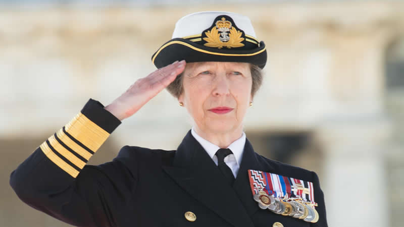 Princess Anne the first woman Captain-General Royal Marines